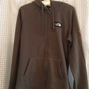 North face hooded zip jacket